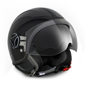 Casco Jet Momo Design AVIO BLACK CARBON