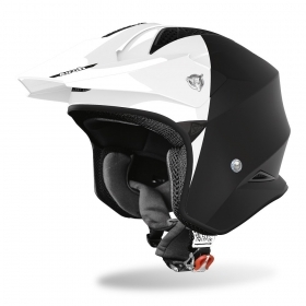 Casco Jet Airoh TRR S TOWN Nero Bianco  Lucido\Opaco TRRST35